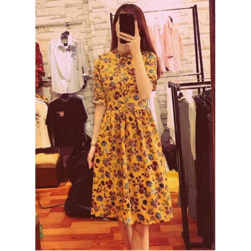 Nơi bán Đầm Hoa Tay Lỡ Suna ShopYame W3404