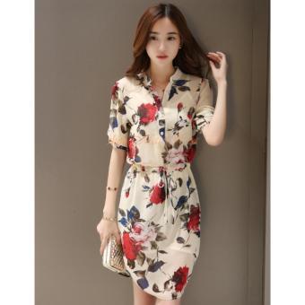 Đầm Sơ Mi Hoa Hồng DN027 - 5