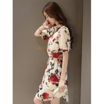 Đầm Sơ Mi Hoa Hồng DN027 - 3