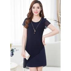 Cách mua Đầm suông phối voan Misa Fashion MS257 / Xanh đen