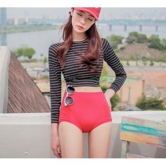 Đồ bơi bikini tay dài màu đen kẻ sọc quần đỏ cạp cao - BF1205 - 10298417 , OE680FAAA6SZYHVNAMZ-12501197 , 224_OE680FAAA6SZYHVNAMZ-12501197 , 490000 , Do-boi-bikini-tay-dai-mau-den-ke-soc-quan-do-cap-cao-BF1205-224_OE680FAAA6SZYHVNAMZ-12501197 , lazada.vn , Đồ bơi bikini tay dài màu đen kẻ sọc quần đỏ cạp cao - BF1205