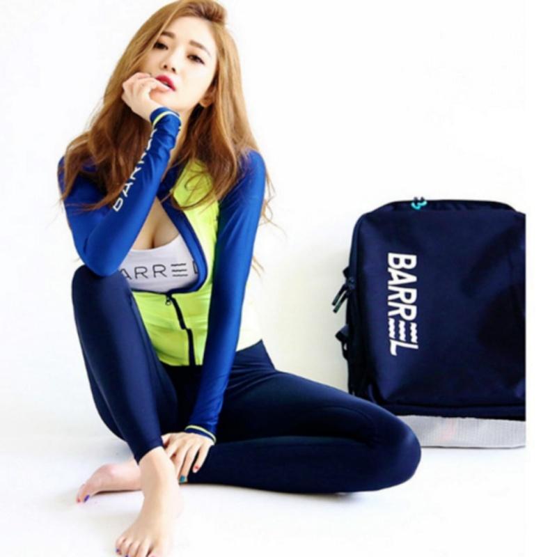 Nơi bán Đồ bơi bikini tay dài quần dài 3 mảnh màu xanh dạ - BG1601