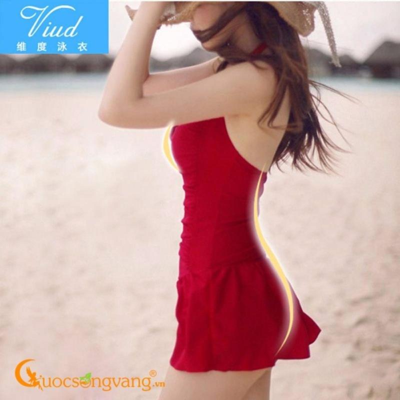 Nơi bán Đồ đi biển nữ áo tắm liền thân một mảnh GLSWIM001-Red