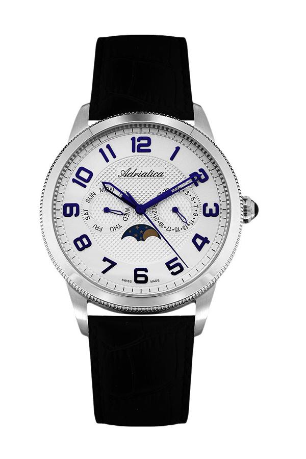 Đồng hồ nam dây da Adriatica A8238.52B3QF (Đen)
