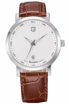 Đồng hồ nam dây da Bestdon 9974G (Nâu)