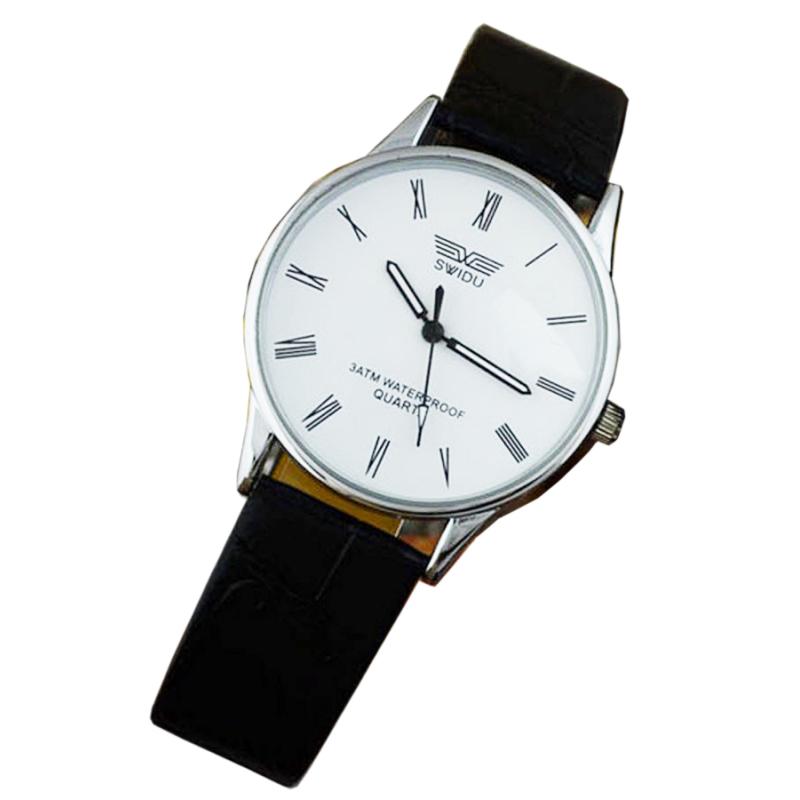 Nơi bán Đồng hồ nam dây da SWIDU 002 (Trắng)