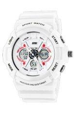 Đồng hồ nam dây nhựa SKMEI Sport Watch 0966 (Trắng phối đỏ)