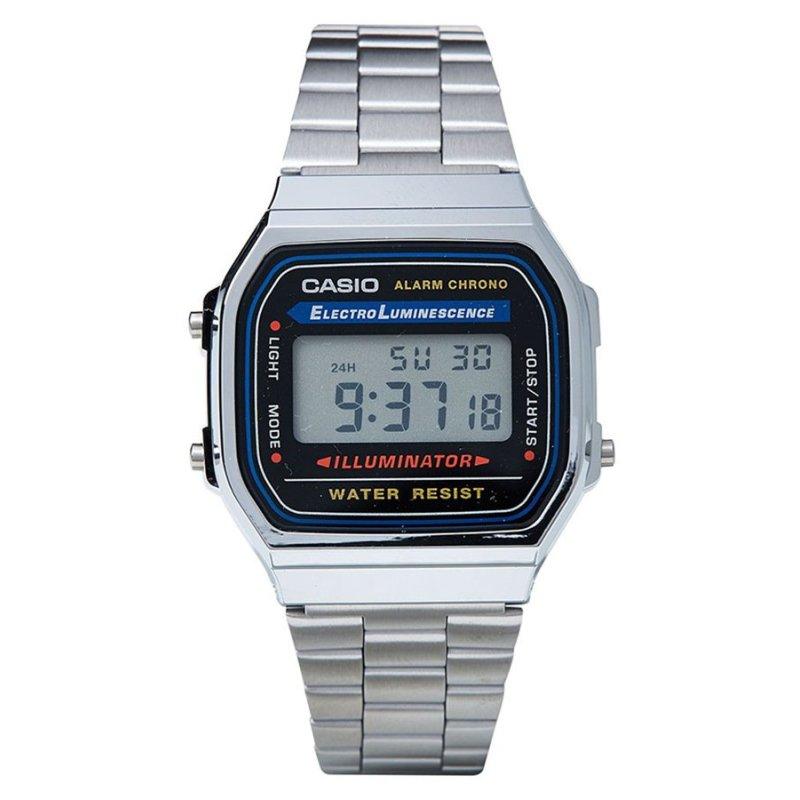 Nơi bán Đồng hồ nam dây thép không gỉ Casio A168WA-1WDF (Bạc)