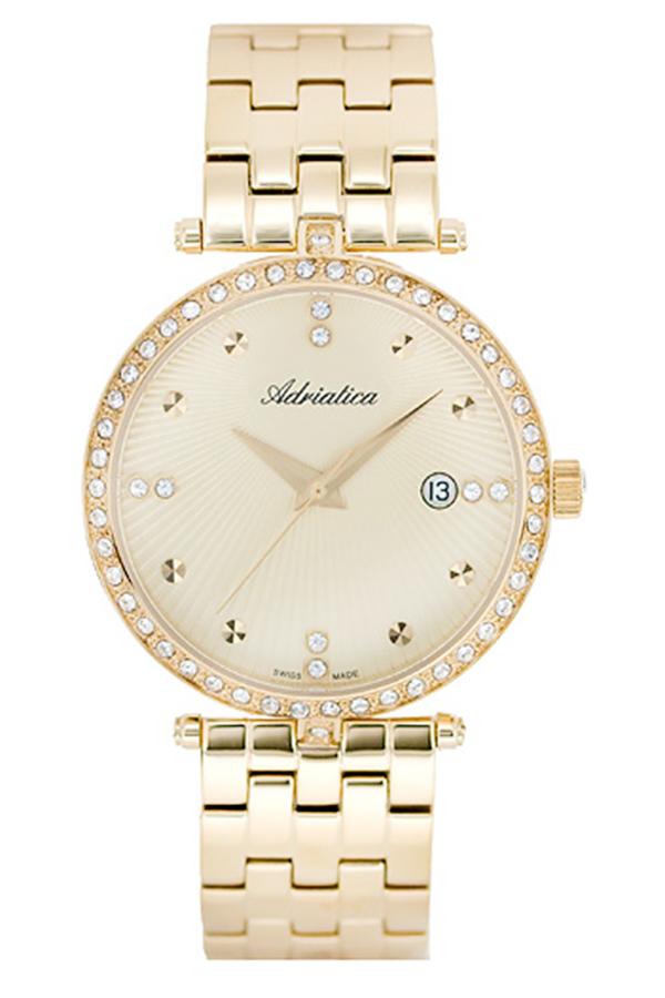 Đồng hồ nữ dây thép không gỉ Adriatica A3695.1141QZ (Vàng)