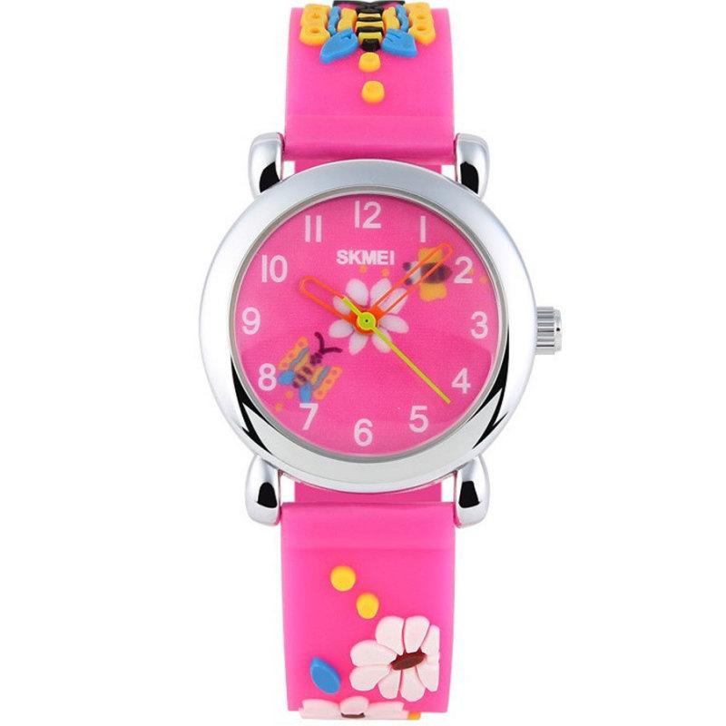 Đồng hồ trẻ em dây cao su Skmei 1047C (Hồng đậm) bán chạy