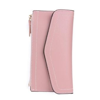 Envelope Women PU Leather Long Wallets Zipper Card Coin Clutch Purse(Red) - intl