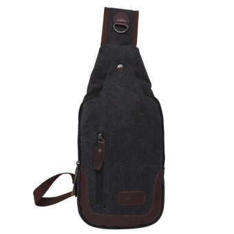 Fashion Canvas Chest Pack Men Messenger Bags Casual Flap Male Small Retro - intl