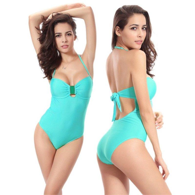 Nơi bán Fashion One-piece Swimsuits Animal Print (Blue-43) - intl