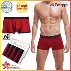 [FREESHIP] 1 Hộp 4 quần lót nam PEN APPLE ống rộng Cotton cao cấp - 4 BOXER SHORT - sản xuất tại Hồng Kông - HÃNG PHÂN PHỐI CHÍNH THỨC