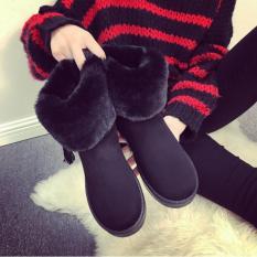 So Sánh Giá Giày boot nữ cổ lông nhập khẩu ZAVANS BNU01 (Đen)  ZAVANS