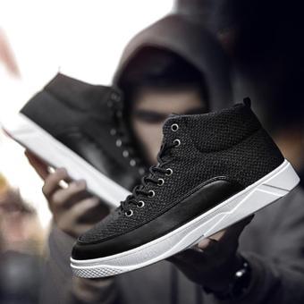 Giày Cao Cổ sneakers Cao Cấp - Pettino B002 (đen) - 2