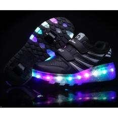Giầy D-Bulun / giày Heelys cho bé trai và bé gái đa chức năng LED kèm bánh xe trươt