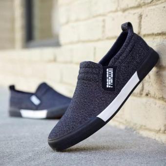 Giày lười vải nam thời trang và lịch lãm Fashion - GiayKS - LFS002 (xanh than)