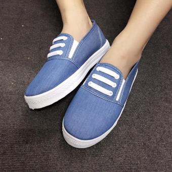 Giày Slip On 3 dây nữ CS1406 (Xanh nhạt) - 4