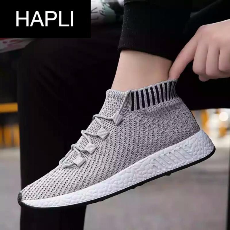 Giày sneaker nam cổ chun hot nhất năm HAPLI - NewNMD02 (xám)