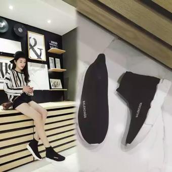 Giày sneaker nữ cao cổ chun hot nhất - HAPU - TBLcao1 (đen) - 4