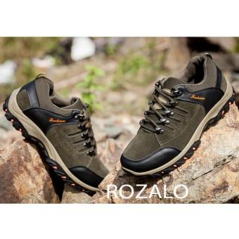 Giày thể thao nam da lộn Rozalo RM6902XR - Xanh Rêu - 4