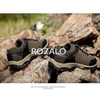 Giày thể thao nam da lộn Rozalo RM6902XR - Xanh Rêu - 5