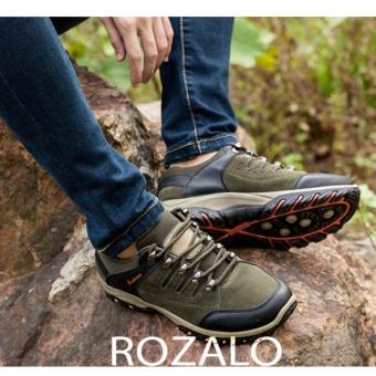 Giày thể thao nam da lộn Rozalo RM6902XR - Xanh Rêu - 2