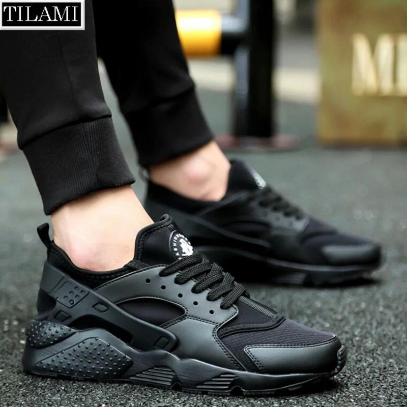 Giày thể thao nam nữ đa năng, đế êm, chất thoáng khí TILAMI - HRC03 (full đen)