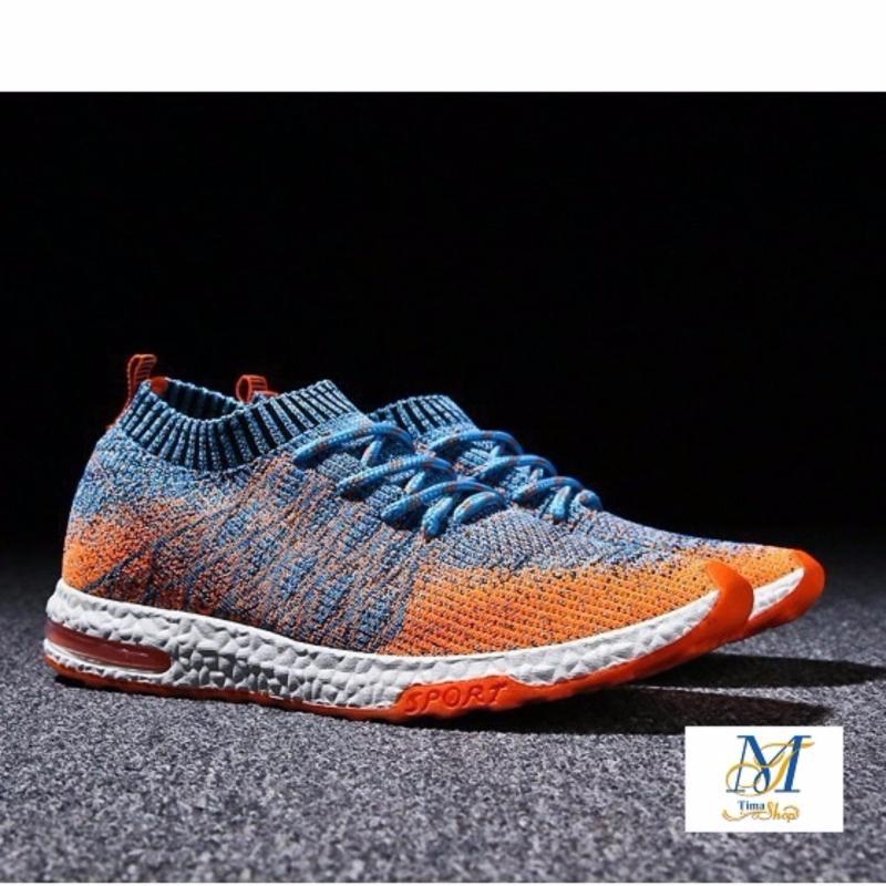 Giày thể thao running sport Nam đế cao su chắc chắn thời trang thu đông 2017 MS21( màu cam)