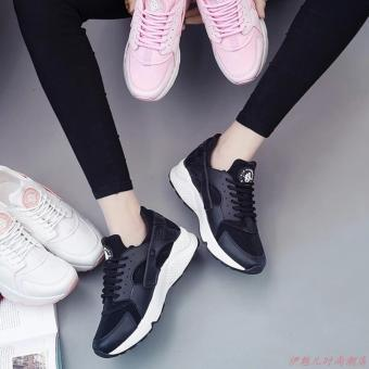 Giày thể thao sneaker cho nam và nữ đế êm, thoáng khí - HAPLI (đen đế trắng) - 5