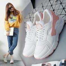 Giá Sốc Giày thể thao sneaker nữ đế êm, thoáng khí – HAPLI (trắng quai cam)