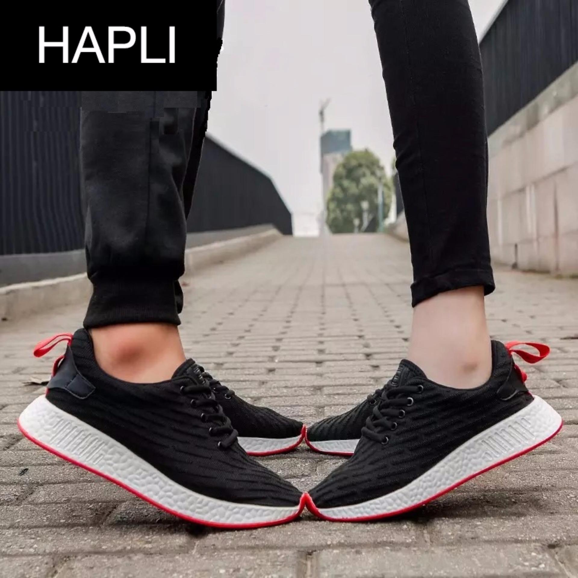 Cập Nhật Giá Giày thời trang nam nữ NewNMD1 – HAPLI (đen vạch đỏ)