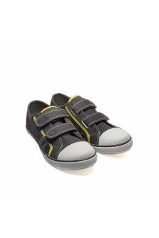 Giày vải học sinh quai ngang dán cho nam Aqua Sportswear (Xám)