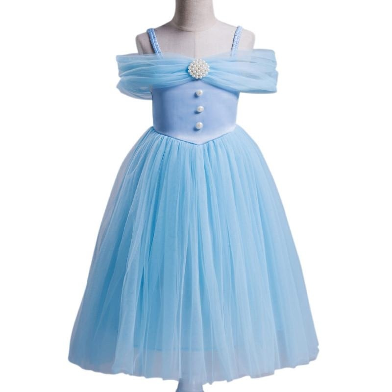 Giá bán Girls Europe and the United States Princess Dress Formal Dress - Light Blue - intl
