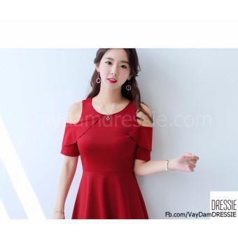 [HÌNH THẬT] Váy Đầm Xòe Chữ A Nữ Đẹp DRESSIE - DX1046B (Đỏ) - Hàng Chính Hãng - 4