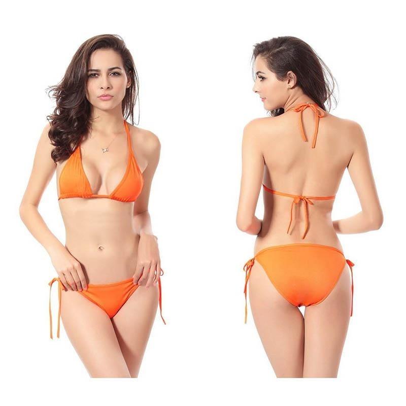 Nơi bán Hot Roped up Bikini Large 2piece Bandage Push up Padded Swimwear Swimsuit - intl