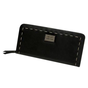 Lady Women Purse Clutch Wallet Short Small Bag Card Holder Black -intl