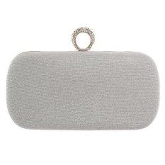 Báo Giá MagiDeal Evening Party Cocktail Clutch Purses Wallet Handbag Shoulder Chains Silver – intl  MagiDeal