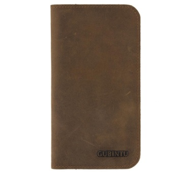 Men Leather Card Holder Phone Clutch Long Wallet(428#Small) - intl