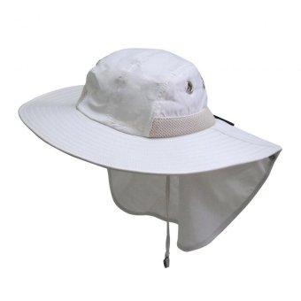 Mũ tai bèo 180⁰ chống UV Unisex LEADERSHIP 114W (Trắng kem)