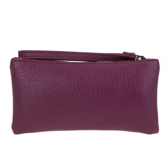 New Fashion Women PU Leather Card Cell Phone Bag Mini Clutch Bag Wallet - intl