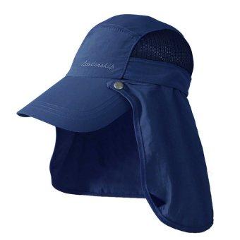 Nón Golf lưỡi trai che gáy chống UV Unisex LEADERSHIP 028B (Xanhdương)