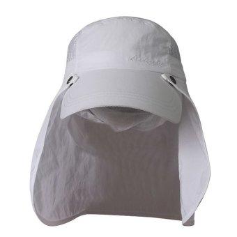 Nón lưỡi trai che gáy chống UV Unisex LEADERSHIP 028W (Trắng)