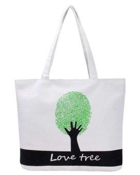ooplm Women Fashion Canvas Shopping Handbag Tote Bags - intl