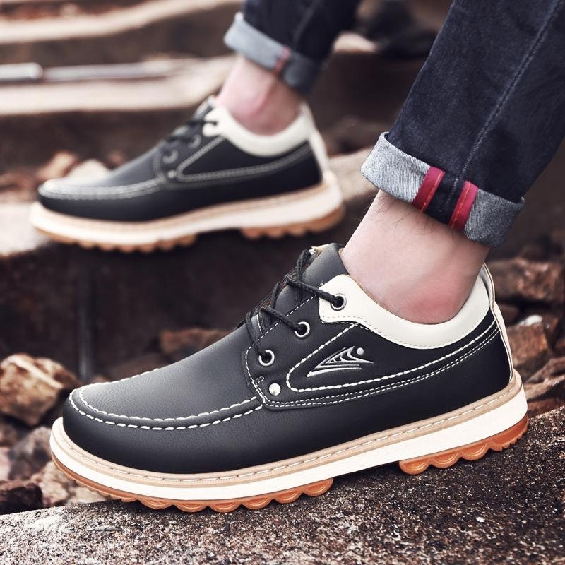 Outdoor Climbing Leather Shoes Men s Shoes Sports and Leisure Running Shoes Waterproof Anti-skid Shoes - intl