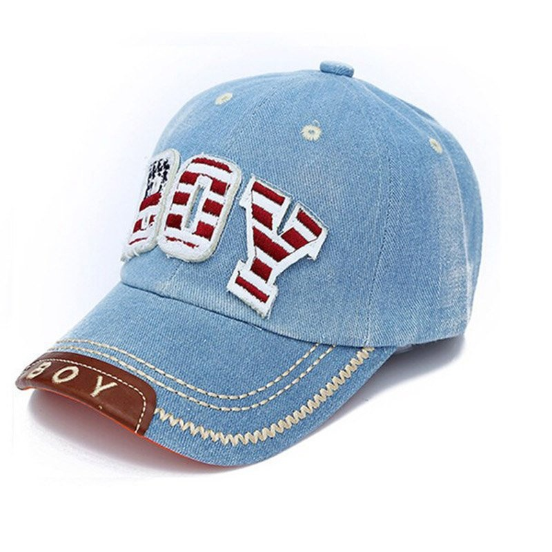 PAlight Adjustable Kids Hat Cowboy Baseball Cap (Light Blue) - intl