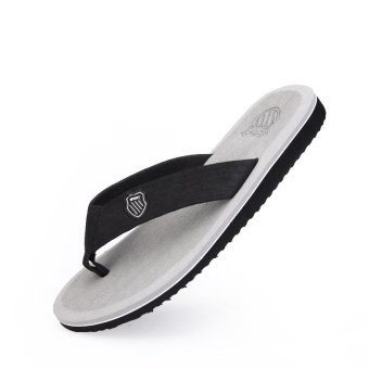 PINSV Mens Flip-Flops Casual Sandals(Grey) - intl