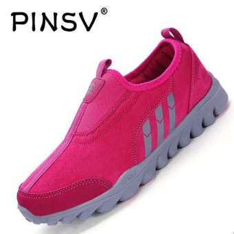PINSV Women Breathable Casual Shoes Fashion Sneakers (Rose) - intl