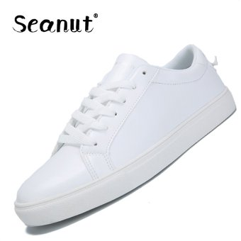 Seanut Men's Casual Shoes Breathable Shoes Sneakers (White) - intl